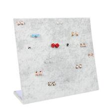 Gray Velet Ramp Jewelry Display Stand Earrings Holder Organizer Storage Cases