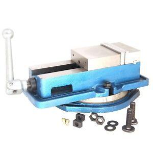 HFS-New-8-034-Milling-Machine-Lockdown-Vise-Swiveling-Base-Hardened-Metal-CNC-Vise