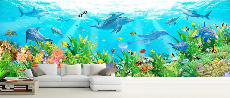 3D U - Boot - Panorama Fototapeten Wandbild Fototapete BildTapete Familie DE