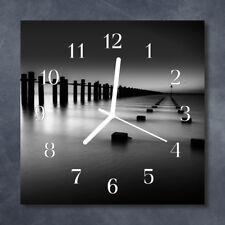 Wallario Design Wanduhr Acrylglas 30 x 60 cm Rauchende Schädel Knochen Tod Kopf