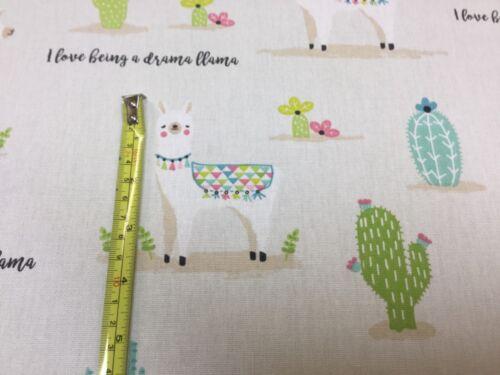Upholstery//Curtains//Cushions//Crafts Fryetts DRAMA LLAMA Cotton Fabric
