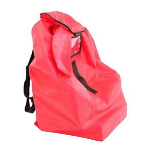 Details About Baby Booster Car Seat Stroller Airplane Gate Check Travel Bag Cover Red