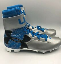 New $130 Under Armour  Spine Highlight  Cleats  Black Sz 13.5 Clutch Fit Hightop