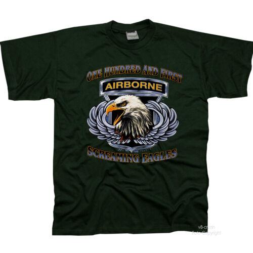 * US Army Airborne Adler Fallschirmspringer Spezialeinheit  T-Shirt *3193 oliv