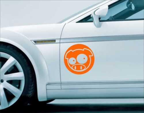 2x Pig Subaru Impreza Vinilo Decal Sticker Pared vehículo Arte Rally Carrera N