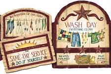 Laundry Room Wash Items on Shelf Wallpaper Wall Border Imperial
