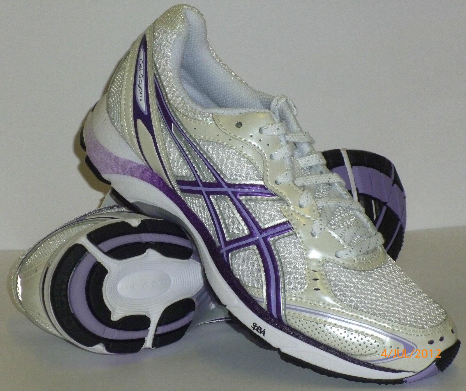 Asics Gel Sayomi Women's Running shoes White Purple Bargain .99 NEW