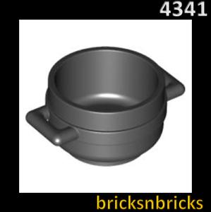 Ustensile Pot Chaudron 3 x 3 x 1 /& 3//4Différentes Couleurs Lego 4341 figurine