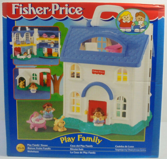 Very Rare Vintage 1996 Fisher Play Family House Little People Mib