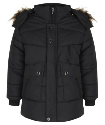 Enfants Garçons fourrure capuche russe Veste à Capuche Veste D/'hiver Manteau d/'extérieur Parka
