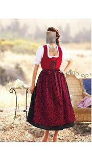 gr Dirndl Vestito 48 Nero 46 52 Rosso tradizionale 40 42 50 44 nIn5qHO