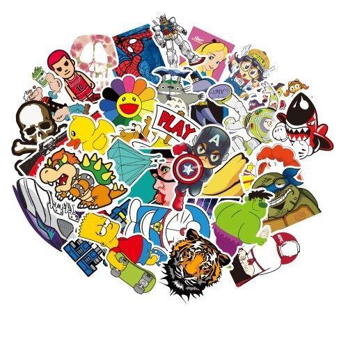 100 pcs graffiti stickers mixed lot stickers bomb skateboard decal