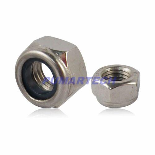 Practical M3--M12 A4 Marine Grade Stainless Steel DIN985 Nylon Lock Nut Metric