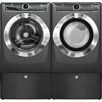 Electrolux Titanium Washer, Electric Dryer & Pedestals Efls617stt & Efme617stt