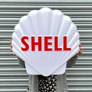 SHELL CLAM WHITE LED LIGHT BOX ADVERTISING SIGN GARAGE PETROL AUTOMOBILIA OIL