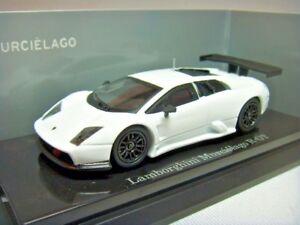 1-64-Kyosho-Lamborghini-Murcielago-Murcielago-R-GT-2008-2009-White-Dealer-Asia