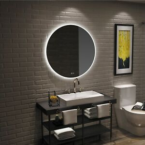 Round Led Light Illuminated Bathroom Vanity Mirror Touch Switch Anti Fog Instock Ebay