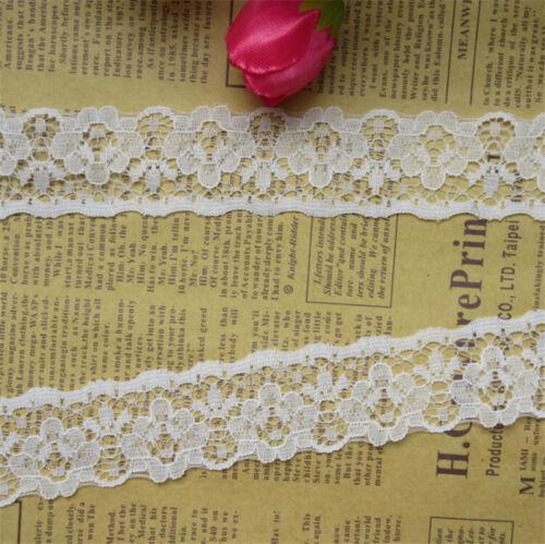 vintage dentelle brodée Bord Bordure ruban mariage Applique À faire soi-même Sewing Craft 12 Yd environ 10.97 m