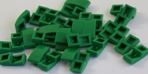 20x Lego ® 11477 Roof Brick Curved 2x1 Green Slope Curved Green Parts STONES NEW