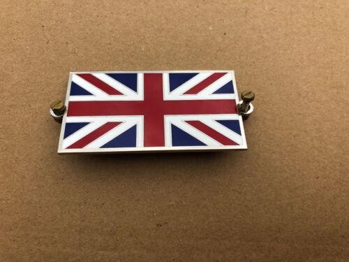 Land Rover Union Jack Métal Émail Badge Emblème Visser COMPLET avec vis