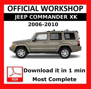 official workshop manual service repair jeep commander xk 2006 rh ebay co uk Jeep Commander Service Manual 2007 Jeep Commander Sport