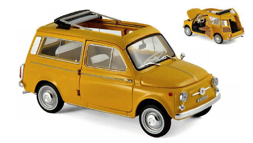 Fiat 500 Giardiniera 1968 Positano amarillo 1 18 Model 187724 NOREV