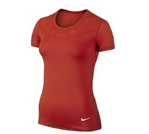 3cf6e228 NIKE Pro Women's Hypercool Tee (Medium, Light Crimson/White) | eBay