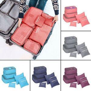 6Pcs-Waterproof-Travel-Clothes-Storage-Bags-Luggage-Organizer-Pouch-Packing-Cube