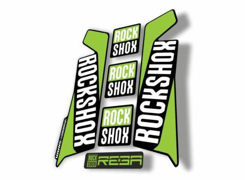 Rock Shox REBA 2016 Fork Decal Mountain Bike Cycling Sticker Adhesive Green
