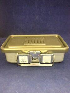 V-MUELLER-GENESIS-CD0-3B-Mini-Sterilization-Container-10x6x3-034-Good-Condition