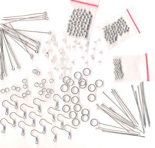 Make your own Jewelry Supplies Beads Earring Hooks Big Lot Starter Kit Assorted