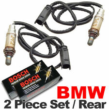 2PC BMW O2 Oxygen Sensor Set REAR/DOWNSTREAM Genuine Bosch OEM Plug E46/M54 02