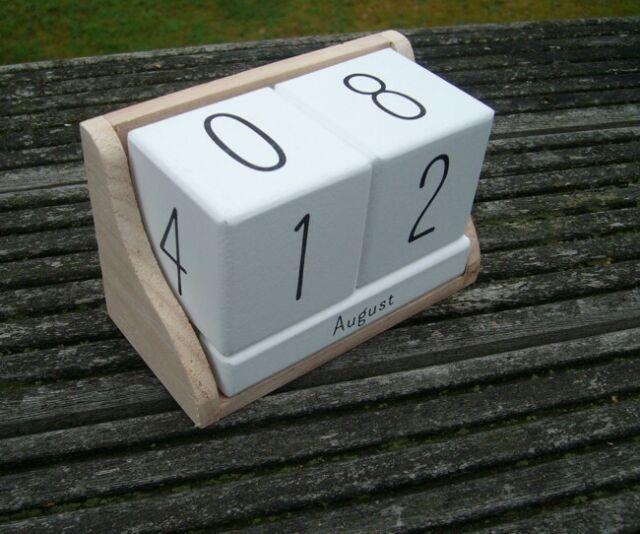 Dekorativer, ewiger Kalender, Tischkalender, Holz+MDF, Impressionen