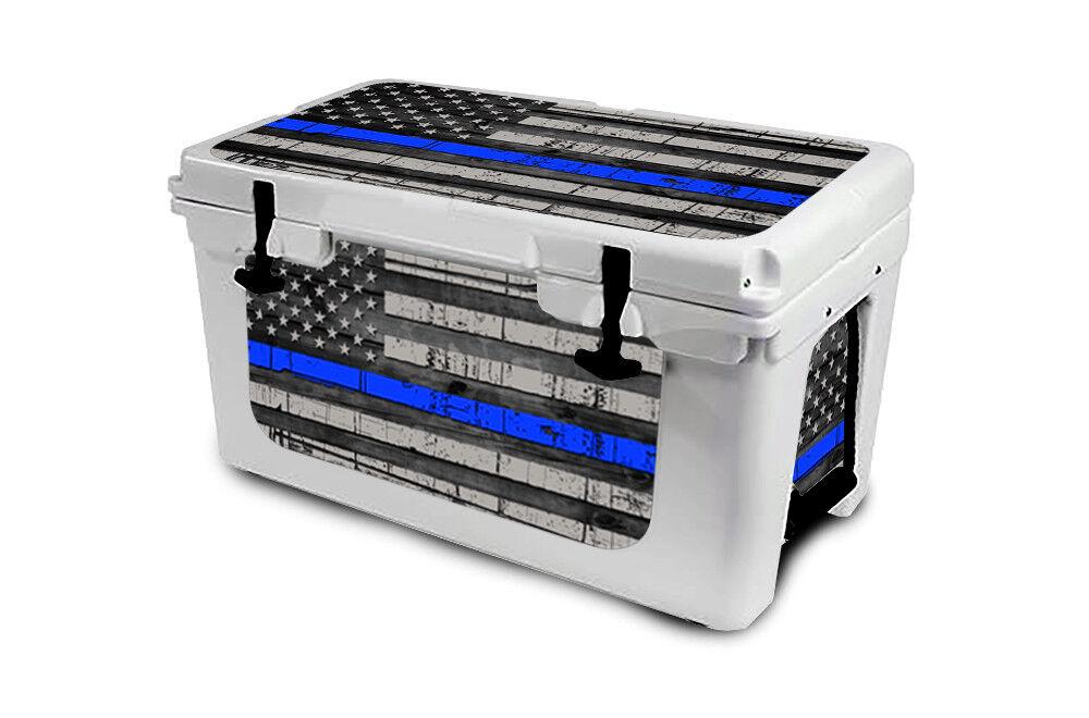 USATuff Cooler Decal Wrap 'Fits New Mold' RTIC 45QT L+I USA bluee Line Flag