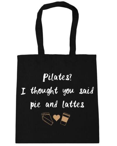 Pilates I Thought You Said Pie and Lattes Tote Shopping Gym Beach Bag 42cmx38cm