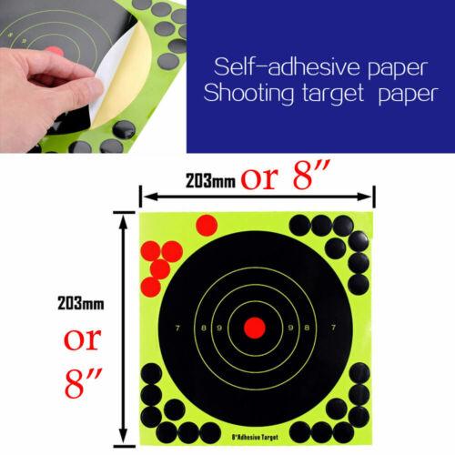 """Shooting Reactive Targets Bullseye Splatter Glow Shot Rifle Gun Paper Target 12/"""""""