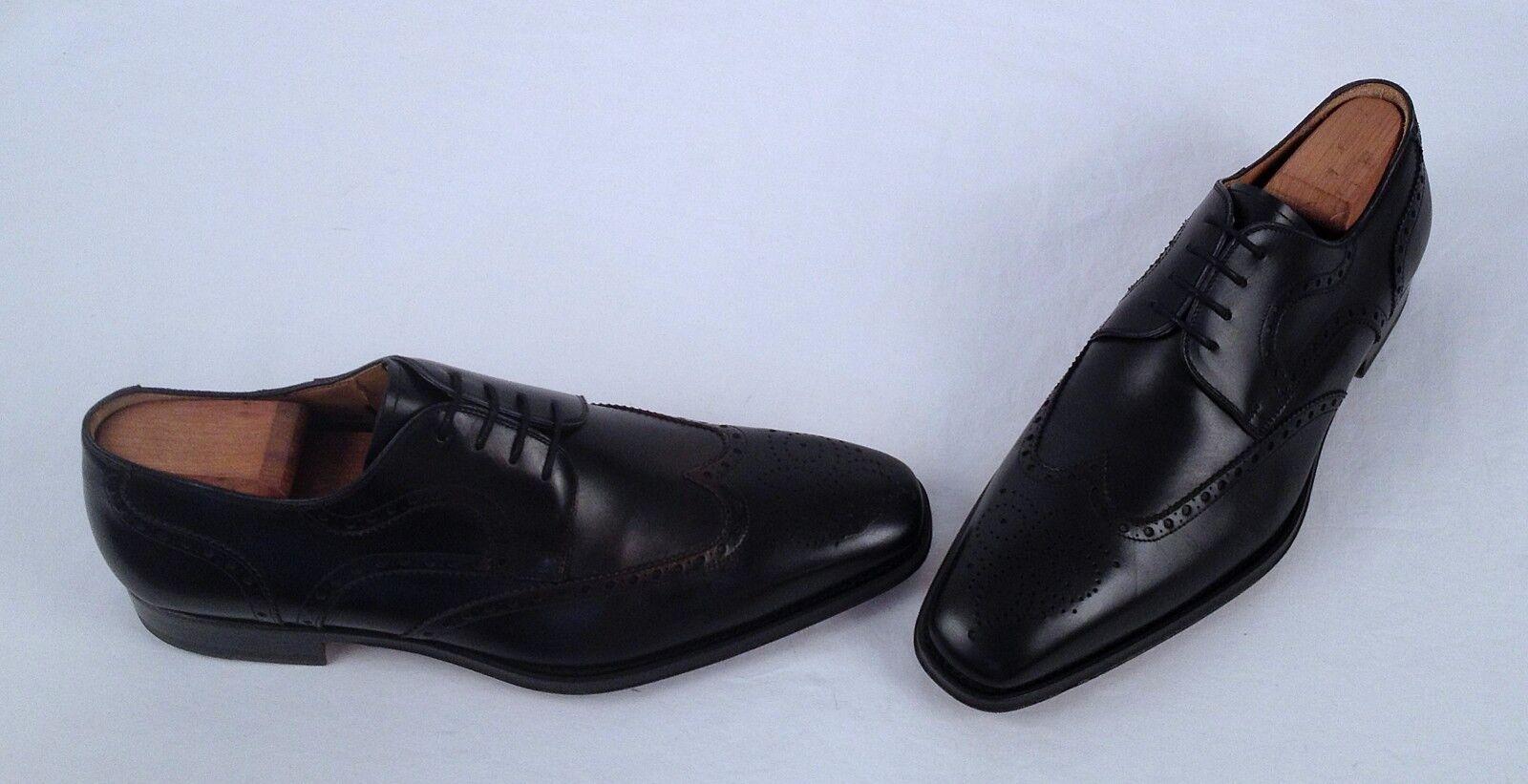 buona qualità Magnanni 'Sergio' Wingtip Oxford- Oxford- Oxford- nero- Dimensione 10 M  Labeled 9.5 M   350  (TB9)  vendite dirette della fabbrica