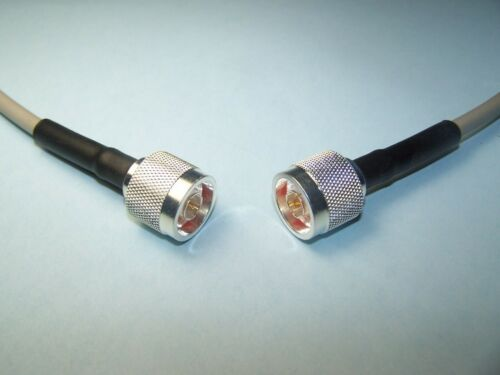 RG-8X COAX CABLE JUMPER 3 FT FOOT SEALED TYPE N CRIMP SILVER PLATED CONNECTORS