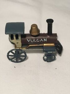 "Vintage Miniature Train, Metal, 2 1/2"" Tall, Toy Mini by Jan Hagara #1381"