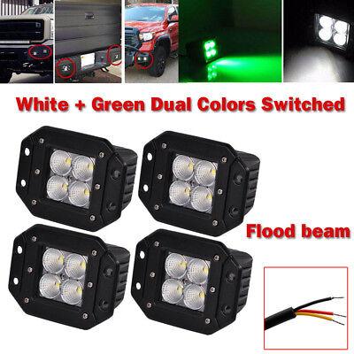 2X 24W Led Lights Flush Mount Reverse Offroad Backup Pickup 4WD Flood Cube Pods