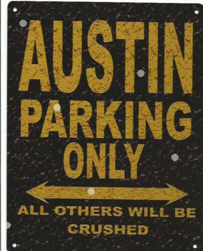AUSTIN PARKING METAL SIGN RUSTIC VINTAGE STYLE 6x8in 20x15cm garage