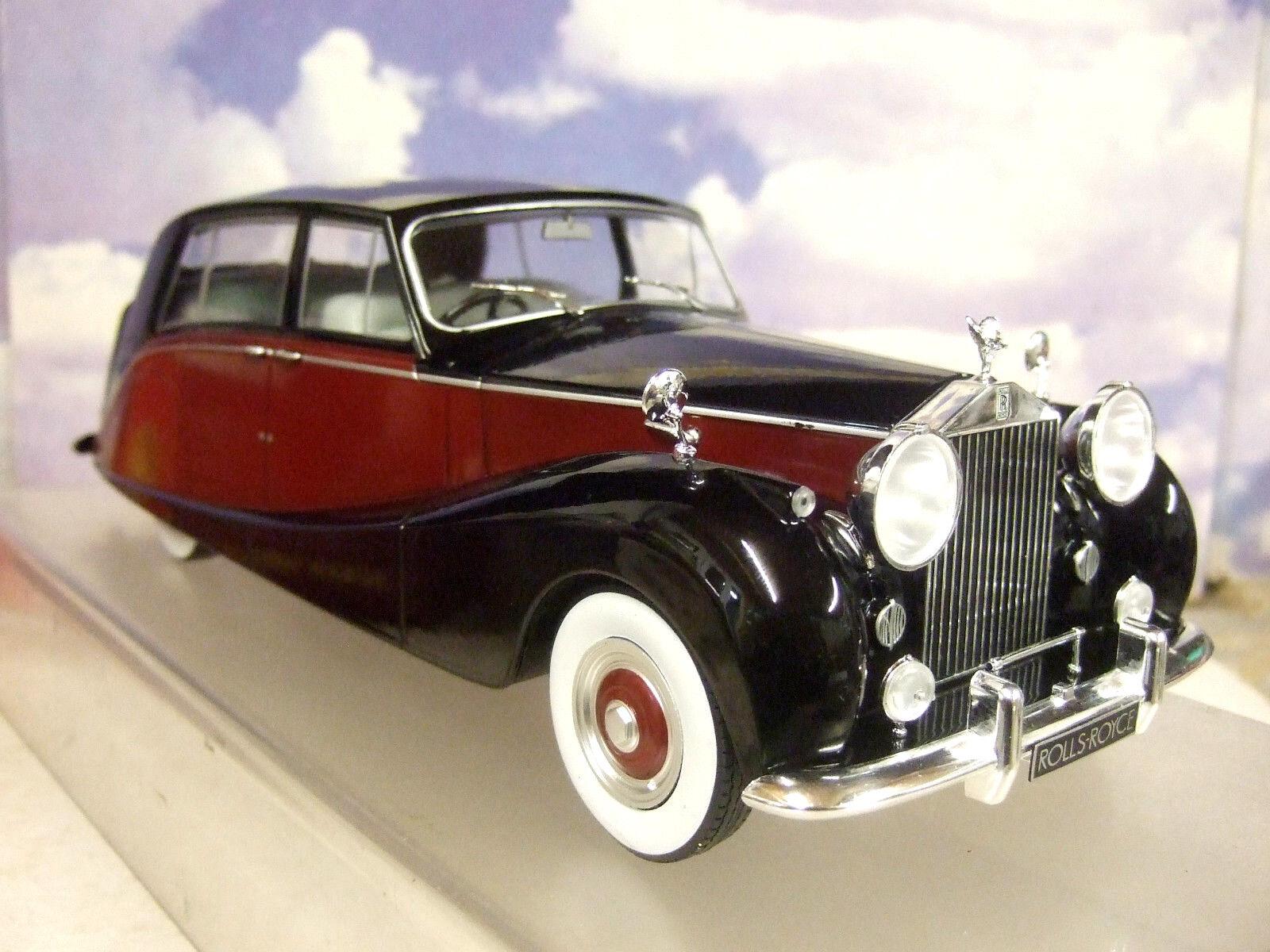 Mcg 1 18 de Metal 1956 Rolls Royce argento Espectros Hooper Empress rosso y nero