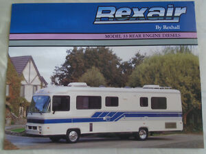 Details about Rexhall Rexair Motorhome brochure c1990's