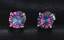 Silver-Square-Mystic-Fire-Rainbow-Topaz-Princess-Cz-Stud-Earrings thumbnail 13