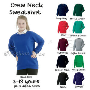 Girls-Boys-Unisex-School-Jumper-Sweatshirt-Uniform-Age-3-4-5-6-7-8-9-10-11-12-13