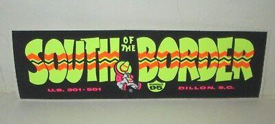 south of the border retro bumper luggage sticker 180mm wide