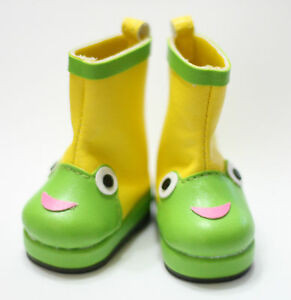 Lovely-Green-Frog-Boots-fits-Blythe-Pullip-Dal-Momoko-1-6-Obitsu-Azone