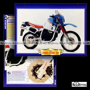 #109.07 Fiche Moto CAGIVA 350 ELEFANT 1987 Trail Bike Motorcycle Card - France - État : Occasion: Objet ayant été utilisé. Consulter la description du vendeur pour avoir plus de détails sur les éventuelles imperfections. ... - France