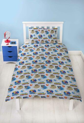 Details about  /Paw Patrol Super Pups Single Duvet Cover Reversible Bed Set Mighty Pups