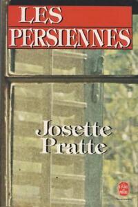 Les-persiennes-Josette-Pratte-Livre-de-Poche-1987-Bon-etat